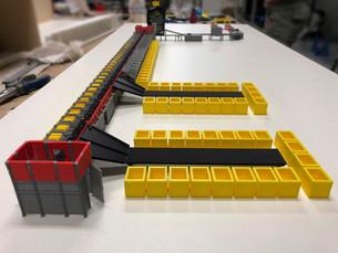 modellino riproduzione macchinario caten