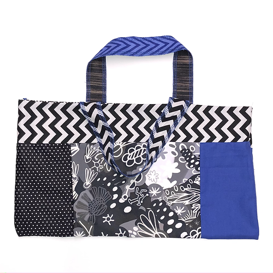 """Tini"" Medium Handbag - Handmade from fabric scraps"
