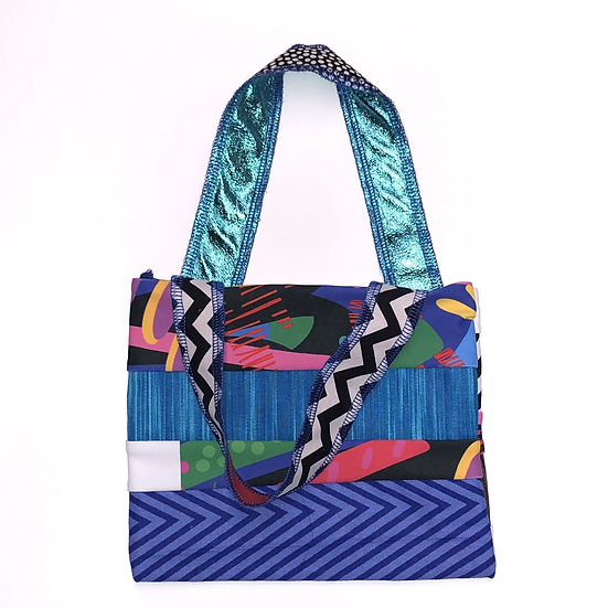 """Olivia"" Small Handbag - Handmade from fabric scraps"