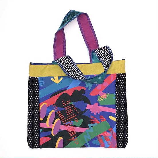 """Oliver"" Small Handbag - Handmade from fabric scraps"