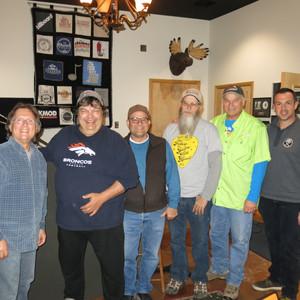 Cowboy Jones at Teegarden Studio (left to right : Rick Gomez, Anthony Pierce, Bob Wiles, John Williams, Steve Huihn and Jeff Overbeck)