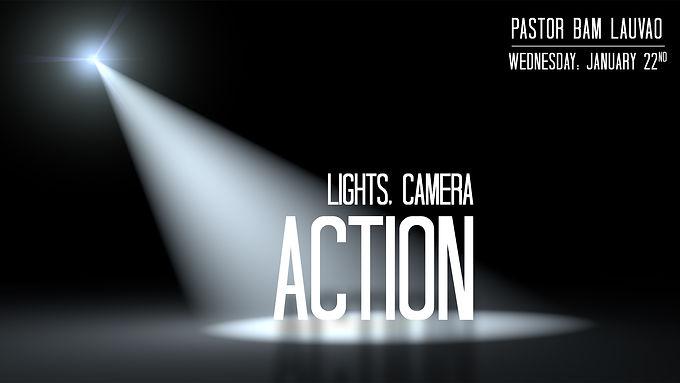 LIGHTS, CAMERA, ACTION!!