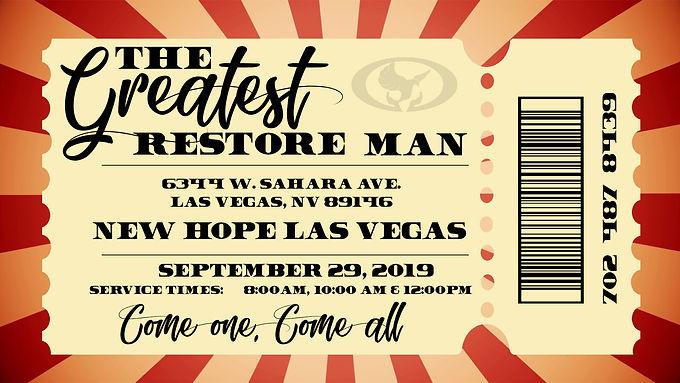 "THE GREATEST ""RESTORE"" MAN"