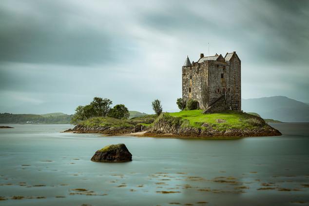 """""""Castle Stalker,"""" Loch Laich, Scotland"""