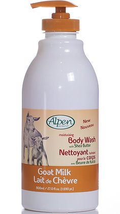 Shea Butter Moisturizing Goat Milk Body Wash