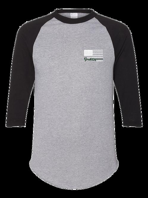 Pendleton Flag Raglan 3/4 Sleeve T-Shirt