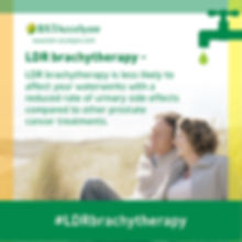 LDR brachytherapy side effects infographic