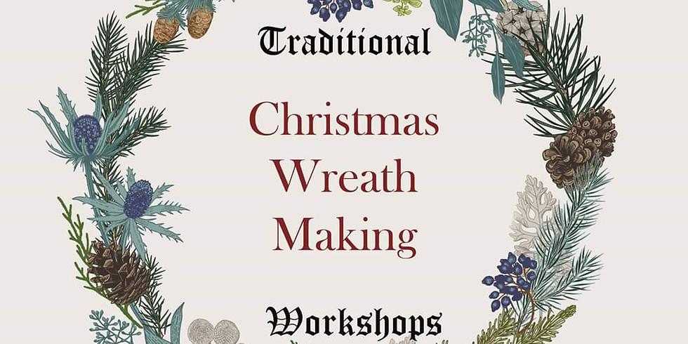 Traditional Christmas wreath workshop 1st Dec 7pm