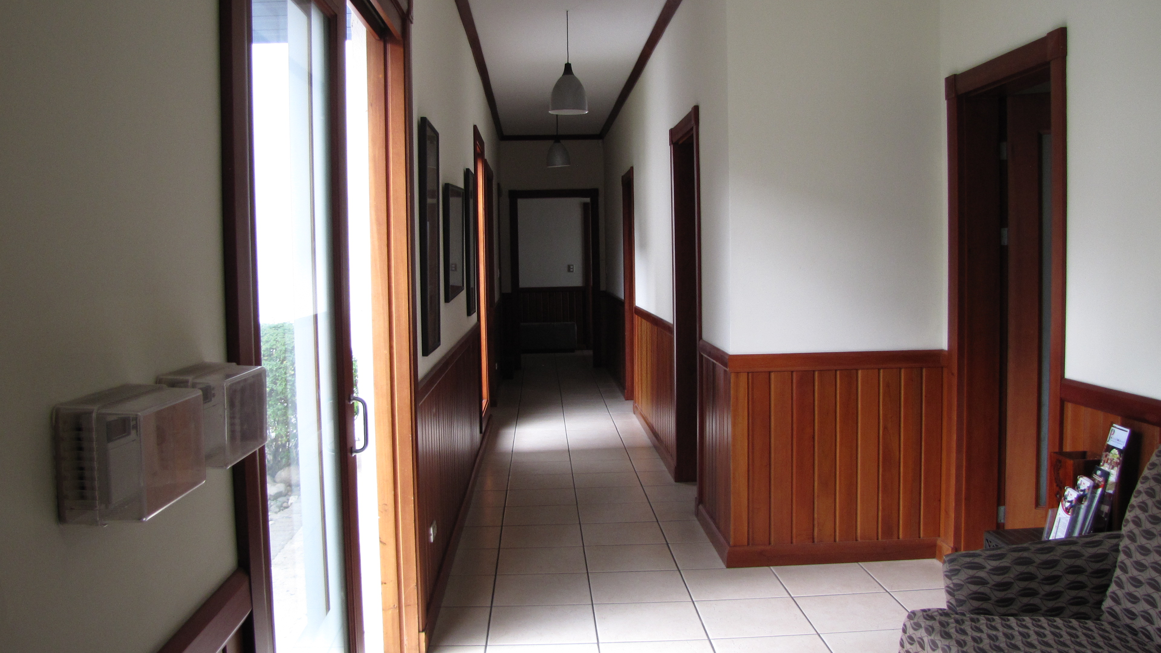 Amplios pasillos