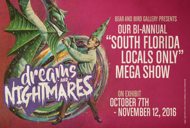 We invited all South Florida artists to contribute a piece that showed their interpretation of dreams & nightmares. Support the South Florida local art scene!