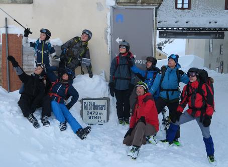 Le groupe 15-18-St François au Col du Grand-Saint-Bernard (Les photos)