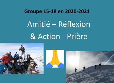 Groupe 15-18 : Rentrée 2020-21