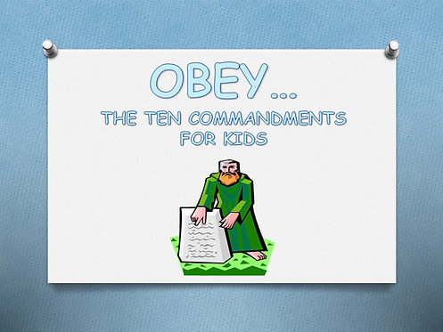 Obey (10 Commandments For Kids)