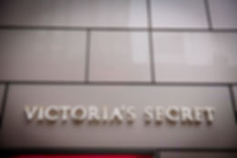 Signage for Victoria's Secret on a custom exterior.