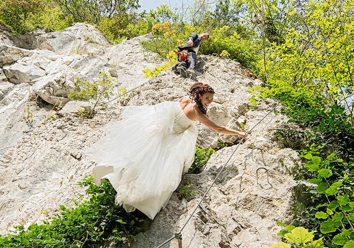After Wedding Shooting am Klettersteig