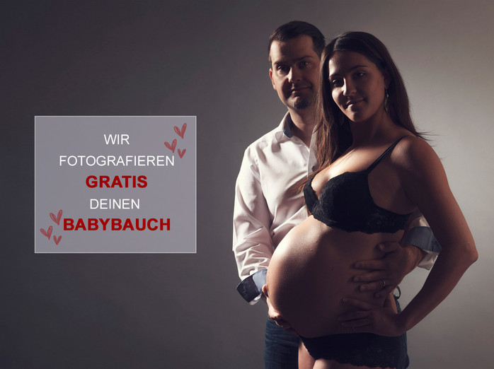 Wir fotografieren GRATIS deinen Babybauch!