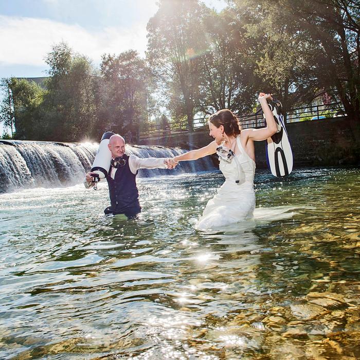 Gemeinsam durch das Leben tauchen - das perfekte After Wedding Shooting!!