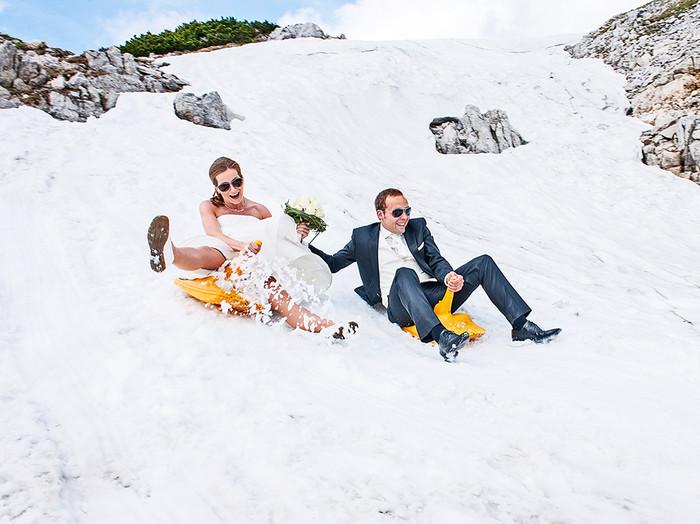 After Wedding im Schnee!
