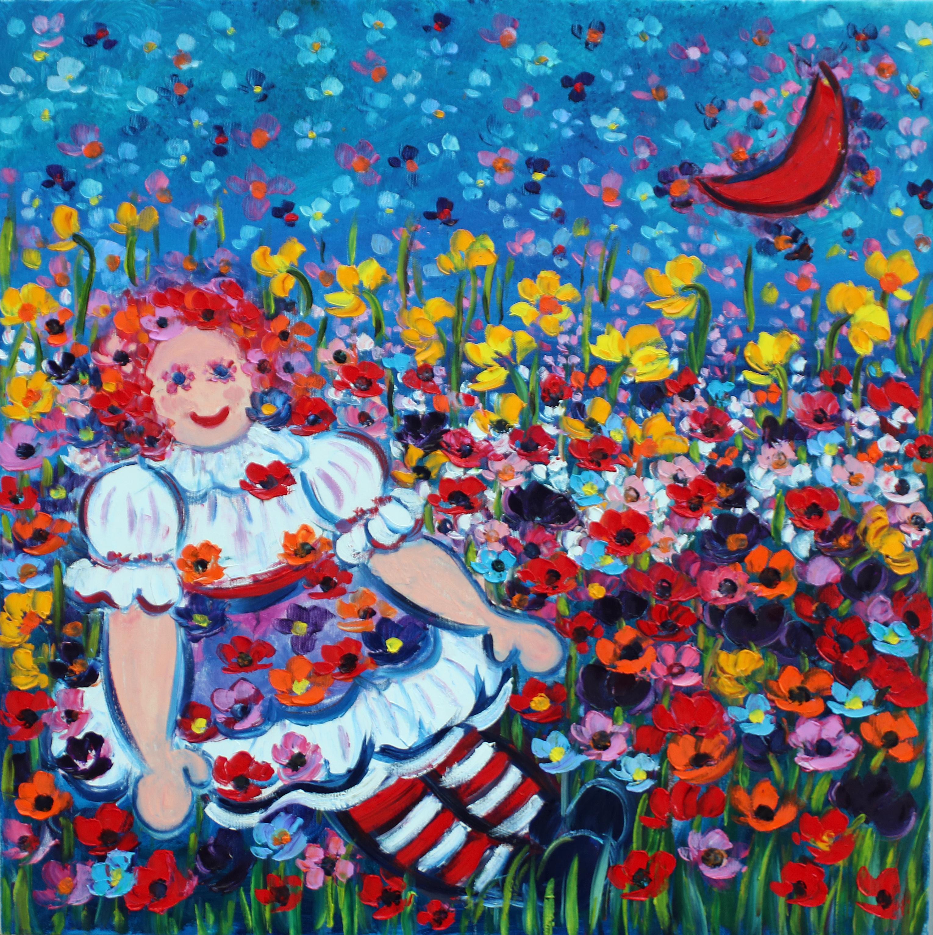Rif. 0427 - Bambolina con luna rossa
