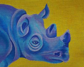 ME 124 - Blue & Yellow Rhino