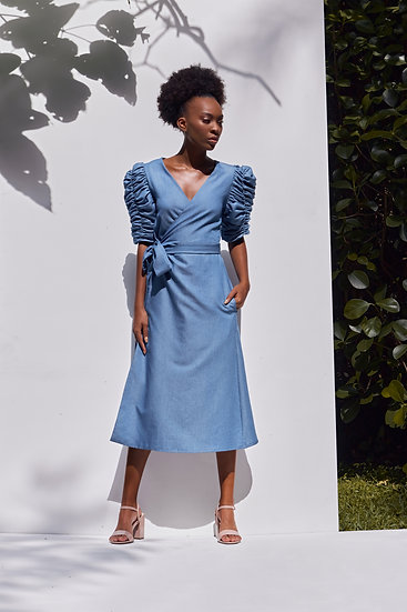 Hadar Dress in Denim