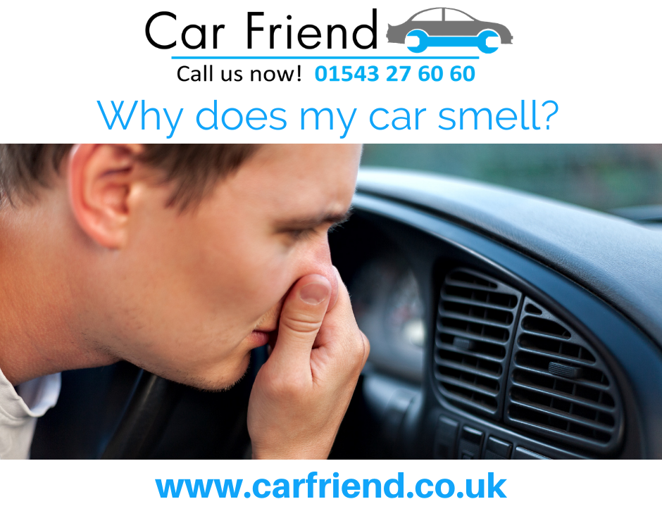 Strange car smells and the possible causes