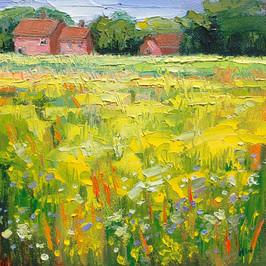 Contemporary english landscape in summer by Halima Washington-Dixon