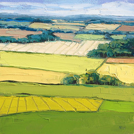 Contemporary english landscape in summer aerial view by Halima Washington-Dixon