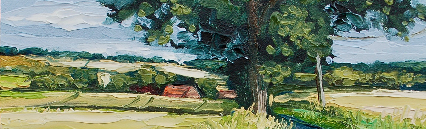 Contemporary english landscape suffolk impasto painting