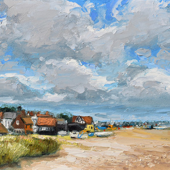 Contemporary english landscape Aldeburgh beach Suffolk by Halima Washington-Dixon