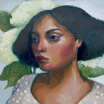 Contemporary naive figure and portrait impasto paintings by Suffolk artist Halima Washington-Dixon
