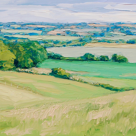 Contemporary english landscape in summer by Halima Washington-Dixon