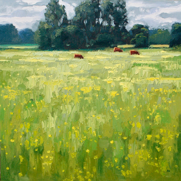Contemporary english landscape water meadows sudbury suffolk  by Halima Washington-Dixon