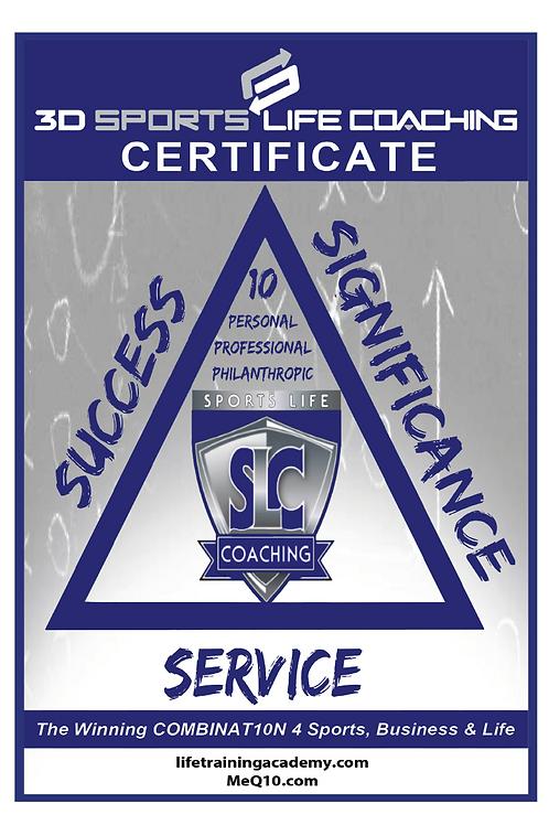 Sports Life Coaching Certificate Manual