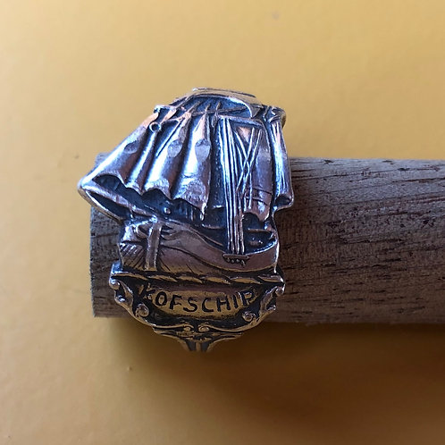 "Coffeespoon ring ""Kofschip"""
