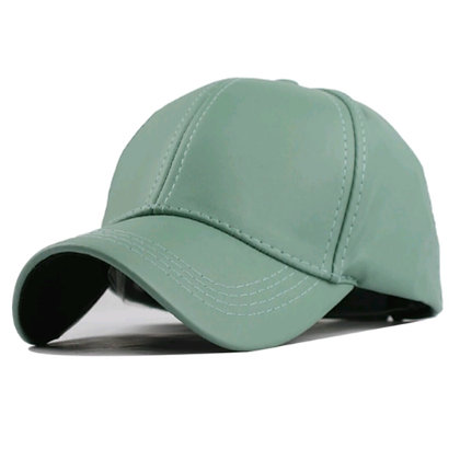 Green Leather Cap