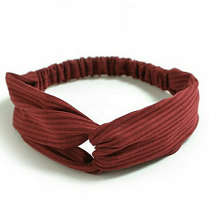 Ribbed Headband - Maroon