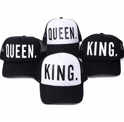 Queen and King Caps