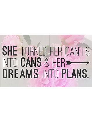 'Dreams into Plans' Mug