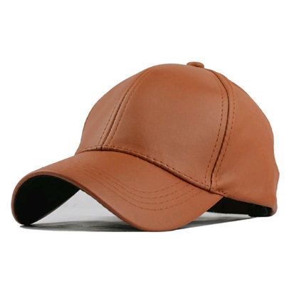 Tan Leather Cap