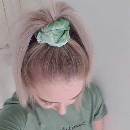 Scrunchie - Lime Velvet