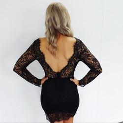 Misteeq Fashion Black Lace Dress