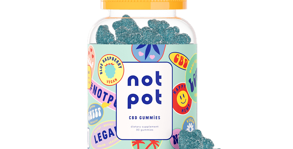 Not Pot - Vegan CBD Gummies (Blue Rasberry)