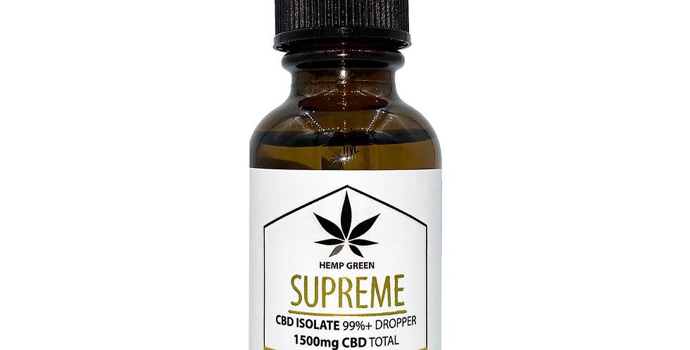 Hemp Green - Supreme CBD Isolate Tincture - 1500mg Dropper