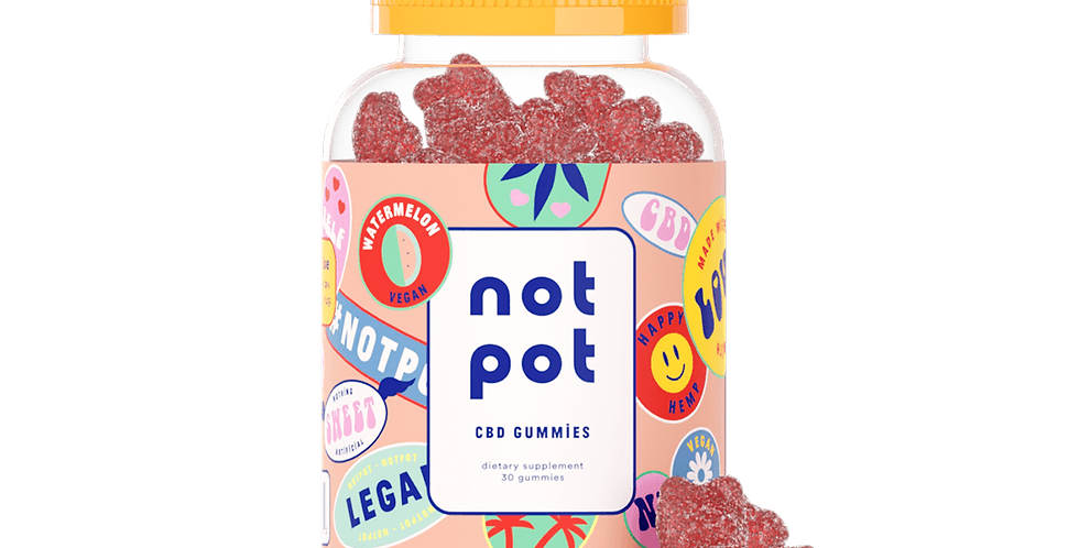 Not Pot - Vegan CBD Gummies (Watermelon)