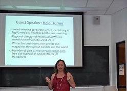 Heidi Turner Freelance Writer Presentation