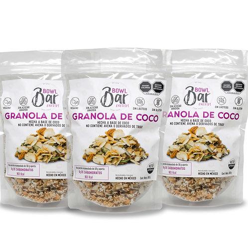 Granola de Coco Keto (Paquete de 3)