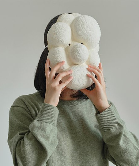 kuo duo creates mushroom mycelium masks to promote the use of biomaterials