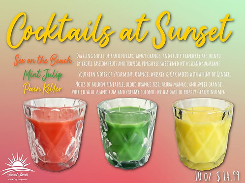 Cocktails at Sunset Specialty Candles