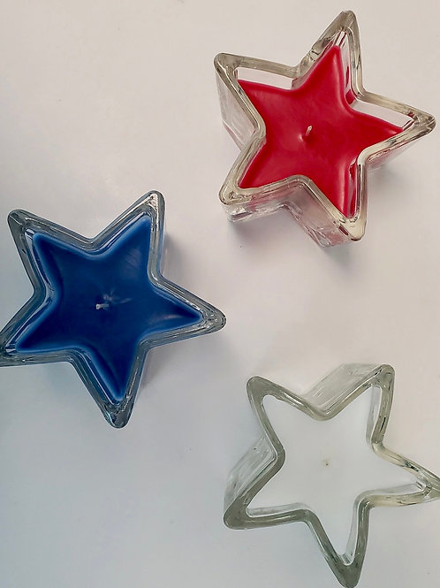 4th of July Candles - Set of 3